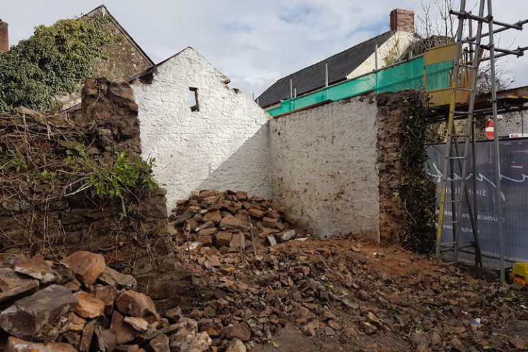 Millington barn end wall during 1