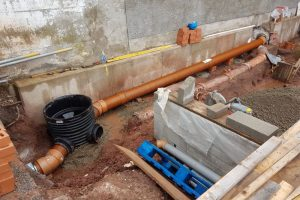 Section 185 sewer pipe diversion, Newport