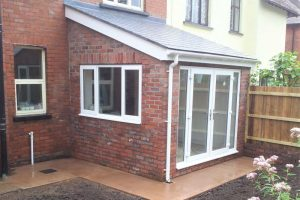Single storey garden room extension, Newport