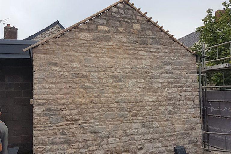 millington barn end gable finished stonework
