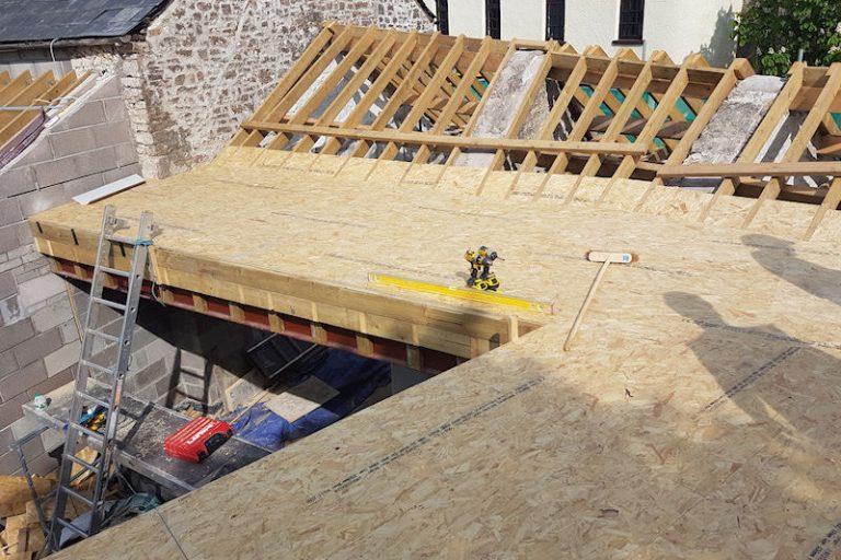 millington barn roof woodwork