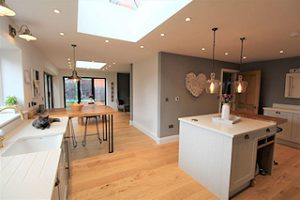 Kitchen extension with roof lantern, Magor